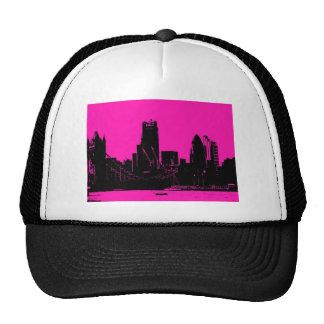 London skyline pink - digitally altered cap