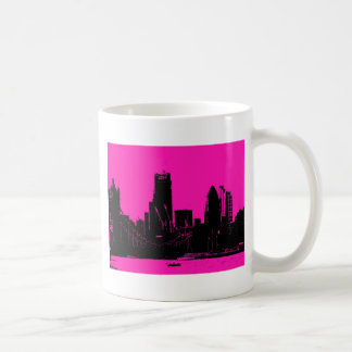 London skyline pink - digitally altered coffee mug