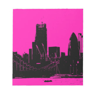 London skyline pink - digitally altered notepad