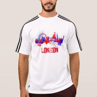 London Skyline Red White Blue Artistic Paint Splat T-Shirt