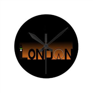 London skyline round clock