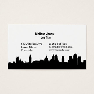 London skyline silhouette cityscape business card