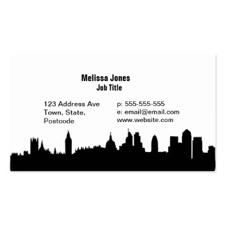 London skyline silhouette cityscape pack of standard business cards