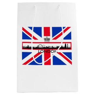 London Skyline Union Jack Flag Medium Gift Bag
