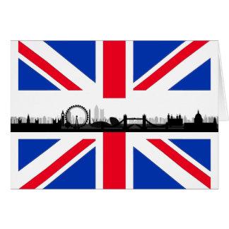 London Skyline Union Jack Flag Note Card
