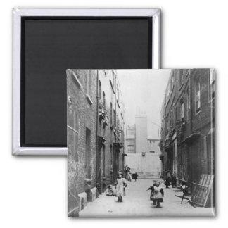 London Slums, 1899 Square Magnet