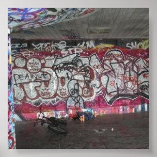London South Banksy Style Street Art Poster