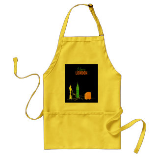 London Stylish Modern Simple Sketch Pop Art Cool Standard Apron