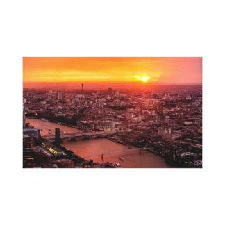 London Sundown Skyline Canvas Print