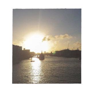 London Sunset Notepad