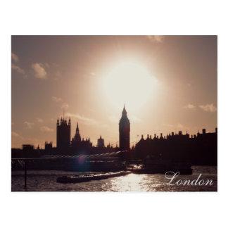 London Sunset Postcard