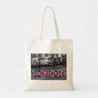 London taxi carrying bag jute bag shopping bag