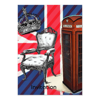London telephone booth victorian crown union jack card