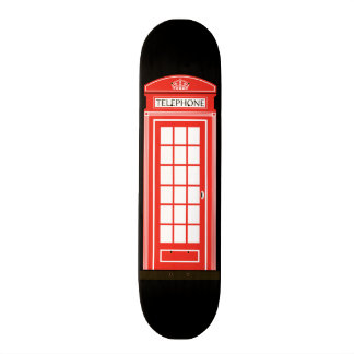 London telephone box skateboard