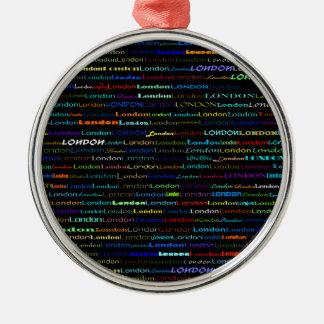 London Text Design I Premium Round Ornament