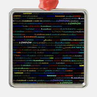 London Text Design I Premium Square Ornament