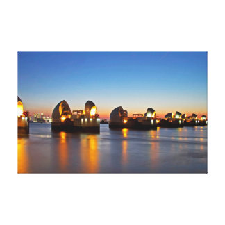London Thames Barrier at Dusk Canvas Print