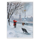 London Thames walk with a romantic couple Card