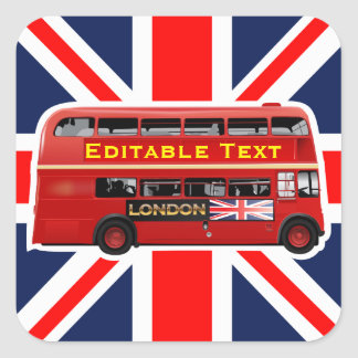 London Themed Square Sticker