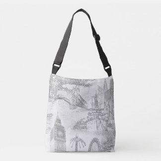 London Tote Bag - London Icons Line Drawings