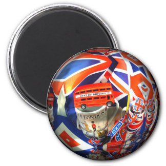 London Tourist Attractions 6 Cm Round Magnet
