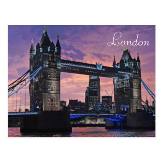 London Tower Bridge British Travel Postcard