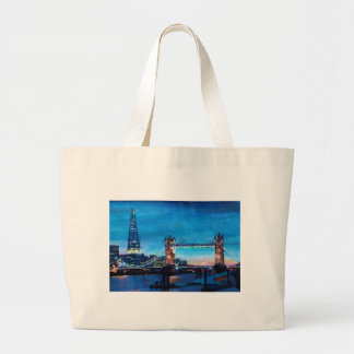 London Tower Bridge with The Shard Tote Bag