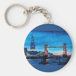 London Tower Bridge with The Shard Key Ring