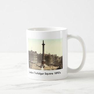 London Trafalgar Square 1890's Basic White Mug