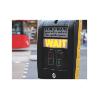 London traffic lights canvas print