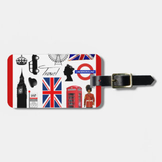 London Travel Collage Luggage Tag