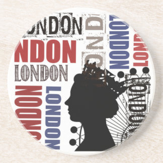 London Travel Modern Collage Coaster