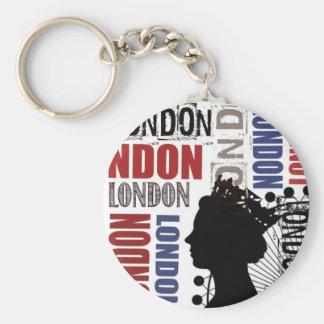 London Travel Modern Collage Key Chains