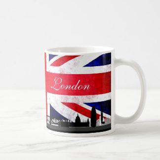 London UK Flag City Skyline Coffee Mug