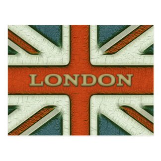 London UK Flag Postcard