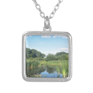 London - UK Pond Silver Plated Necklace