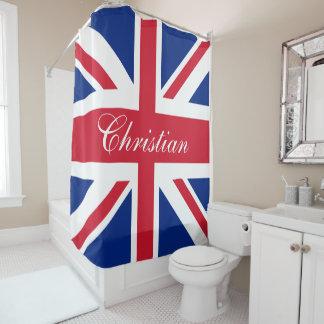 London UK United Kingdom Union Jack Personalized Shower Curtain