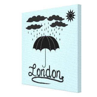 London   Under An Umbrella Canvas Print
