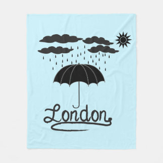 London | Under An Umbrella Fleece Blanket