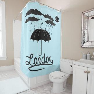 London | Under An Umbrella Shower Curtain