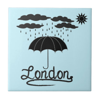 London | Under An Umbrella Tile