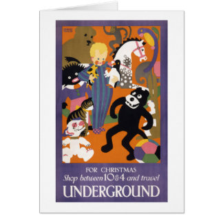 London Underground Vintage Transportation Poster Card