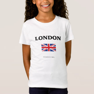 London. Union Jack and GPS Coordinates. T-Shirt