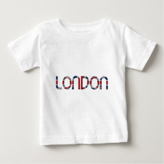 London Union Jack British Flag Typography Elegant Baby T-Shirt