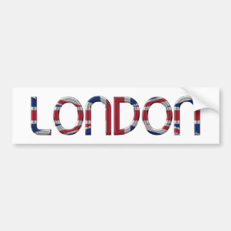 London Union Jack British Flag Typography Elegant Bumper Sticker