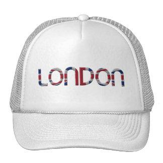 London Union Jack British Flag Typography Elegant Cap