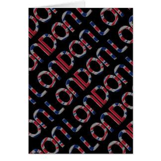 London Union Jack British Flag Typography Elegant Card