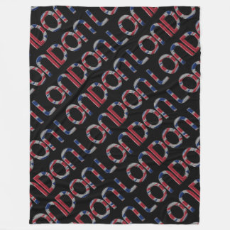 London Union Jack British Flag Typography Elegant Fleece Blanket
