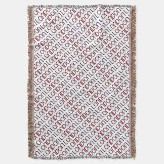 London Union Jack British Flag Typography Elegant Throw Blanket