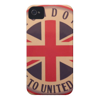 London - Union Jack - Welcome to United Kingdom iPhone 4 Case-Mate Cases